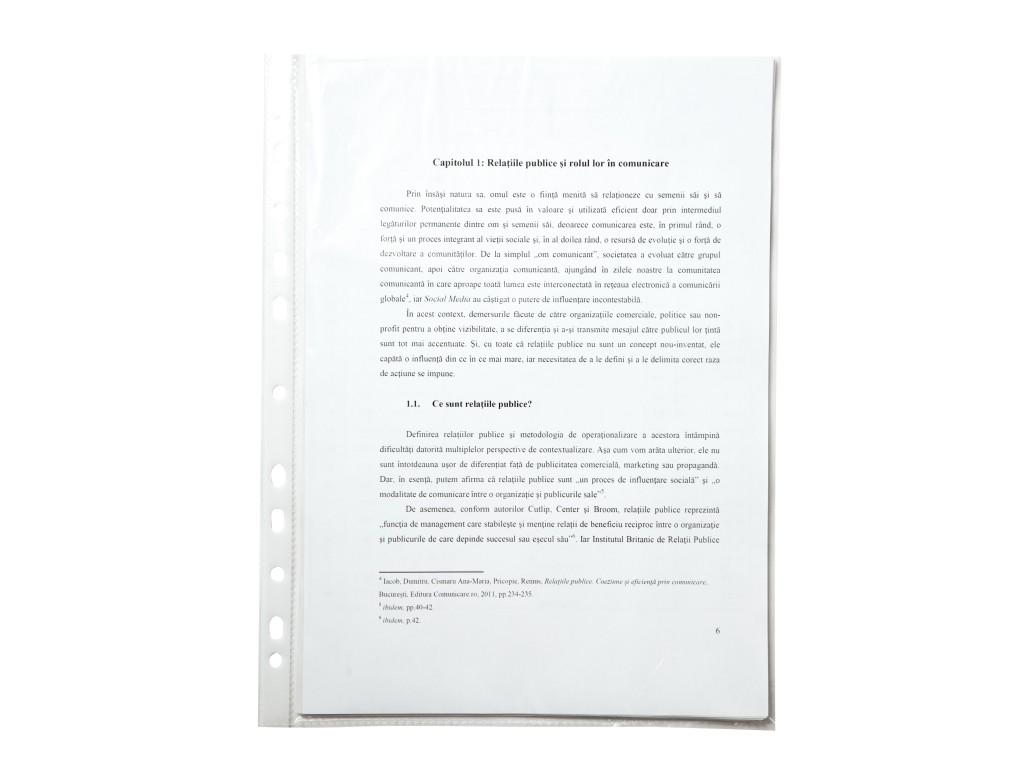 Folie Protectie A4 Standard Op 25/Set