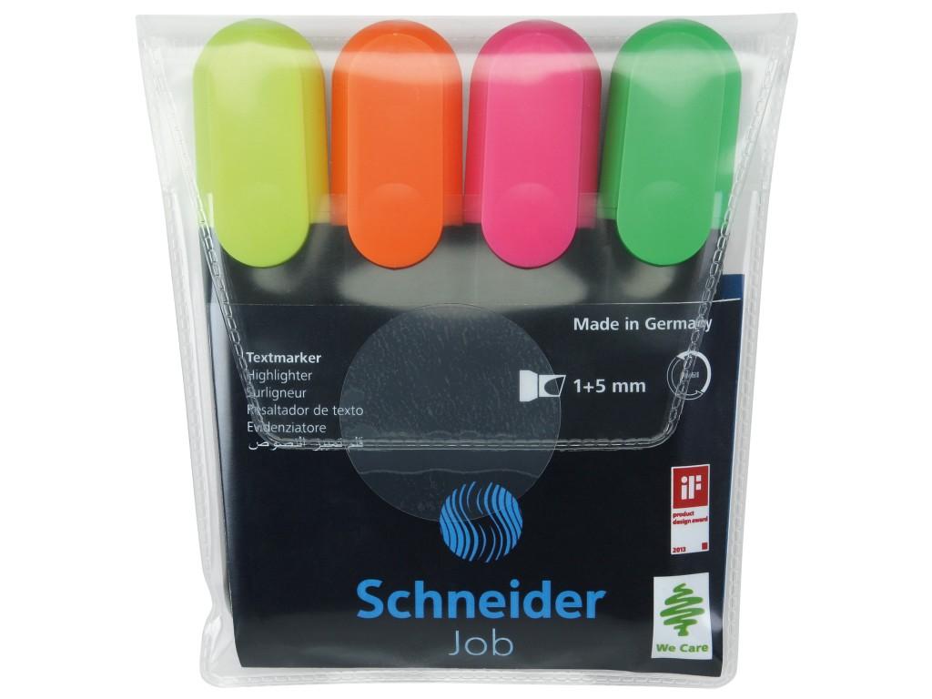 Textmarker Schneider Job 4 Culori/Set