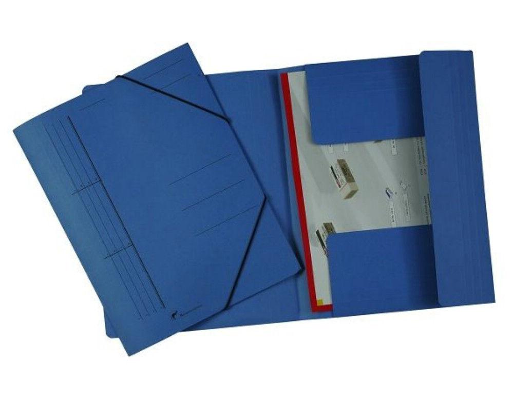 Dosar Carton Color Plic Cu Elastic Albastru