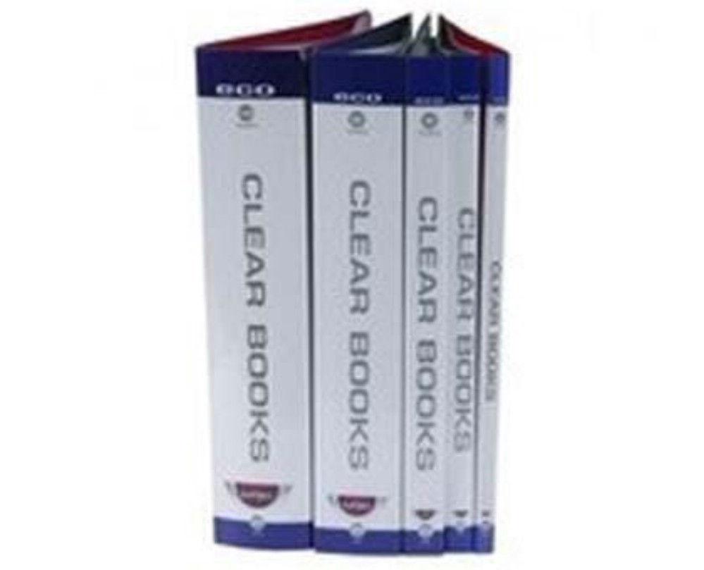 Dosar 100 File Clear Book Negru