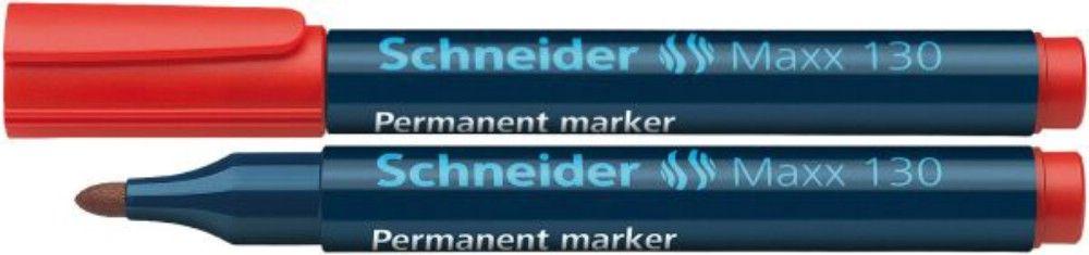 Permanent Marker Schneider 1-3mm 130 Rosu 50 Bucati