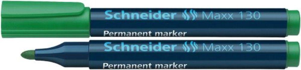 Permanent Marker Schneider 1-3mm 130 Verde 10 Bucati
