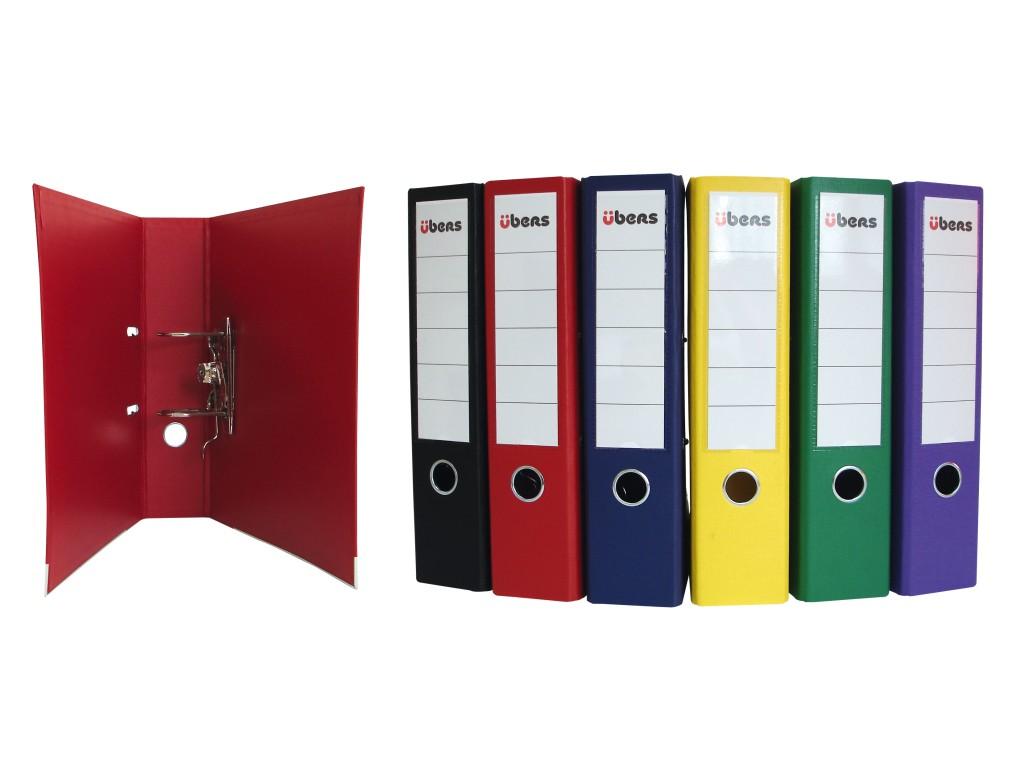 Biblioraft plastifiat Ubers 75mm Diverse Culori