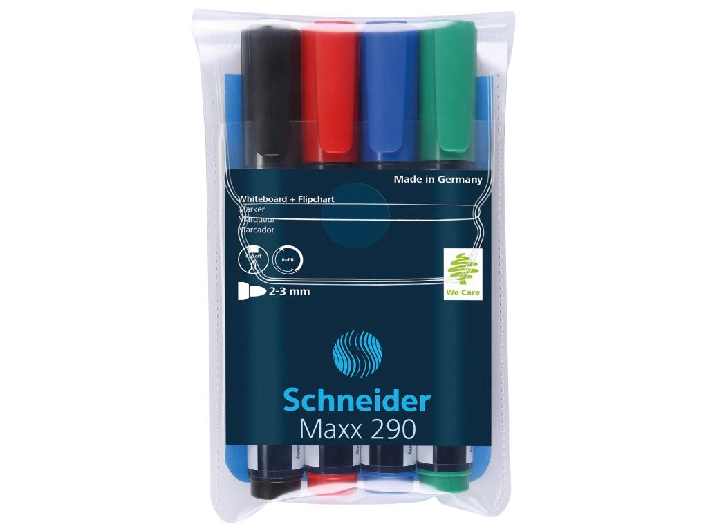 Board Marker Schneider 290, 1-3mm 4/Set